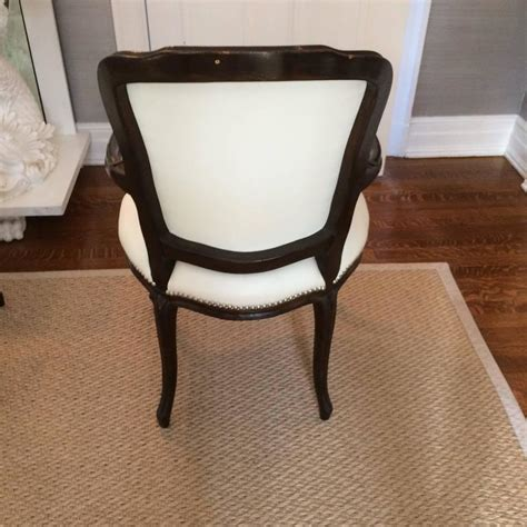 Glam Dining Chairs Set Of Ten Glam Vintage Dining Chairs In Updated White Leather At 1stdibs