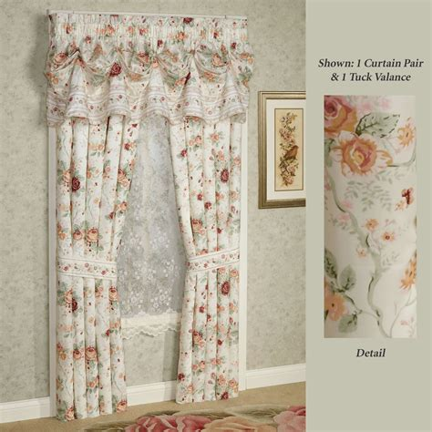 drapes english english rose floral window treatment