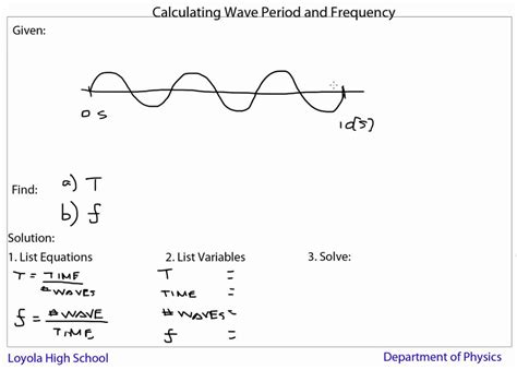 How To Find Frequency Of Light by Waves Calculating Period Frequency