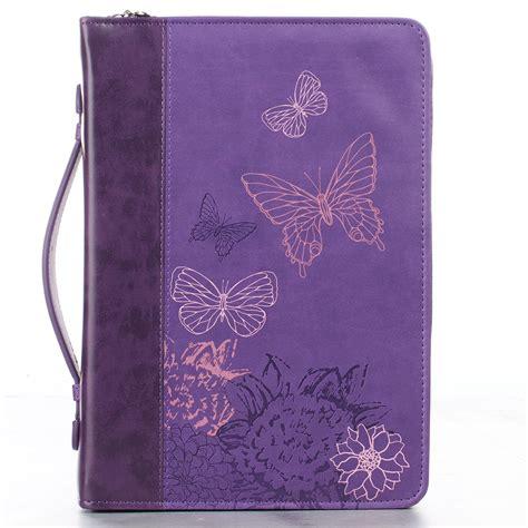 Butterflies In Two Tone Purple 2 Corinthians 5 17 Bible Cover