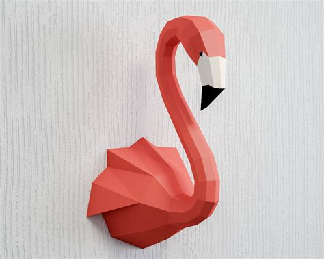 How To Make A Flamingo Out Of Paper - papercraft flamingo 3d paper craft sculpture animal