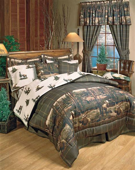 Mountain Bedding Sets Rustic Cabin Wildlife Bedding