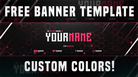 best free youtube banner template 2015 custom colors