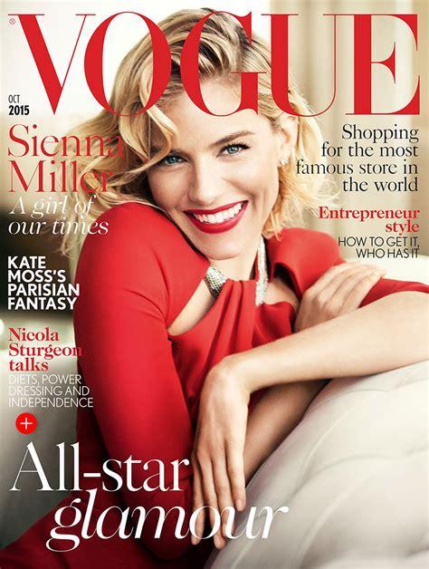 Miller Lands The September Cover Of Us Vogue miller on vogue uk october 2015 cover