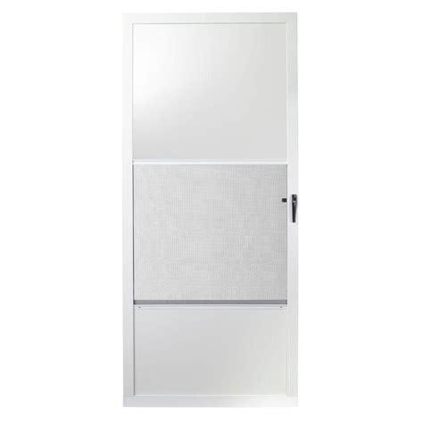 emco door emco 32 in x 80 in 75 series white self storing