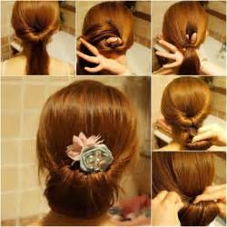 Really Easy Hairstyles For Medium Hair by How To Do Updos For Medium Hair Hairjos Com