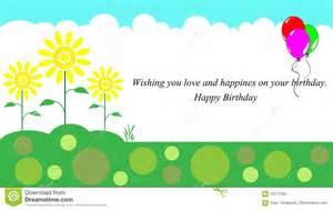 happy birthday card stock illustration image 70717395
