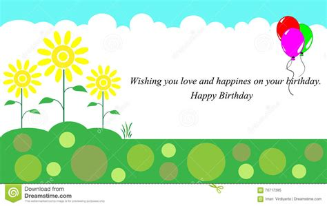 happy birthday card template free happy birthday card stock vector image 70717395