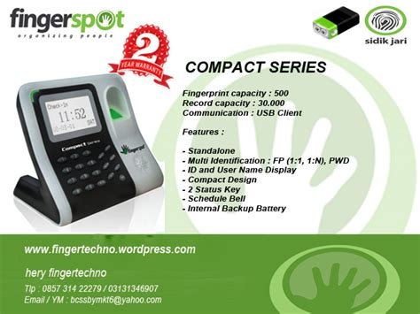 Harga Fingerprint Matrix Series absensi sidik jari surabaya compact series fingertechno