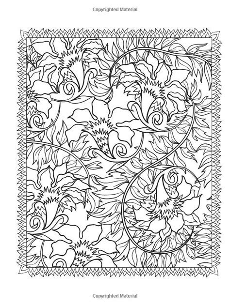 Creative Haven Floral Designs Coloring Book Dover