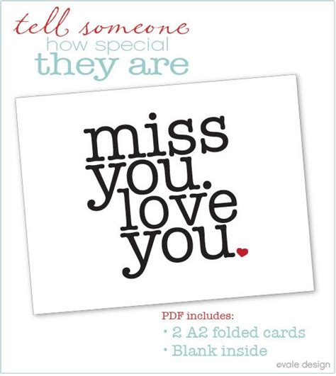 miss you card diy ideas pinterest