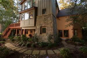 modern log cabin homes log cabin home contemporary exterior atlanta by
