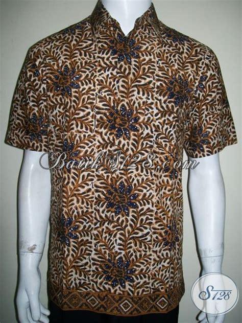 Kemeja Blouse Blus Kerah Katun Stretch Jumbo Ld 142 Cm Bigsize baju kemeja batik cap untuk kerja kantor pria pegawai