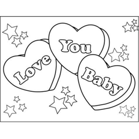 I Love You Baby Coloring Pages   i love you hearts coloring pages to print coloring pages