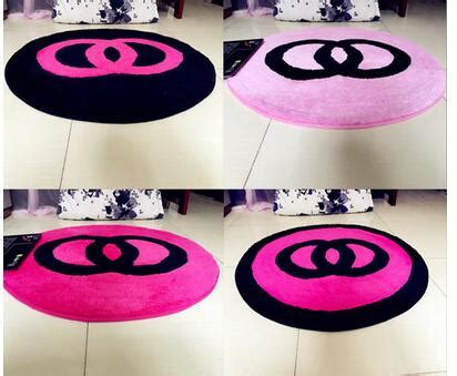 pink chair mat 60x60cm 70x70cm 80x80cm creative warm pink black bedroom
