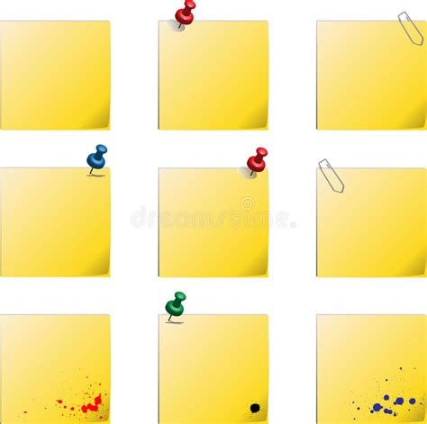 Post It Templates Stock Vector Illustration Of Background 18622085 Post It Template