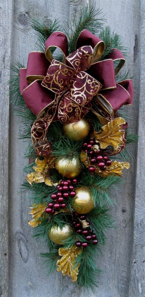 christmas swag holiday wreath elegant christmas d 233 cor