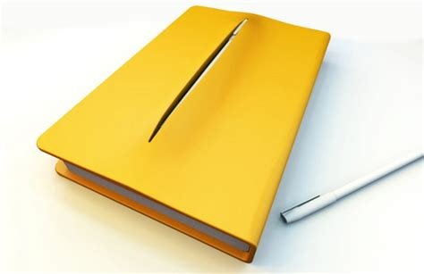 design cover laptop cut and cover notebook hides pen beneath its skin wired