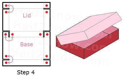 pattern for fold up box how to fold a rectangular box with a lid gift giving
