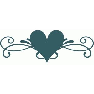 silhouette design store view design  heart flourish