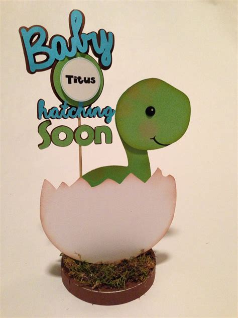 Dinosaur Baby Shower Theme by Baby Dino Dinosaur Centerpiece Baby Shower