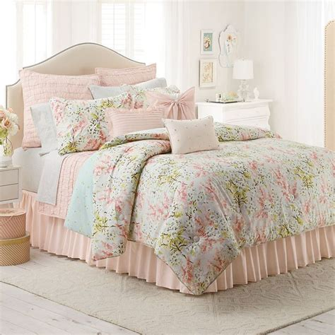 lc lauren conrad tea berry 3 pc reversible comforter set