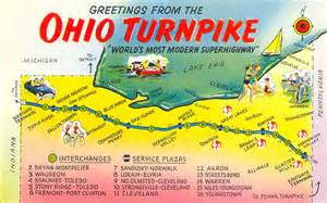 Ohio Turnpike Map by Postcard Gems Ohio Turnpike Map