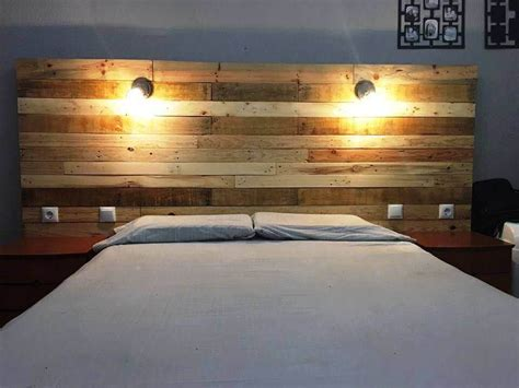 pallet furniture headboard pallet headboard with lights