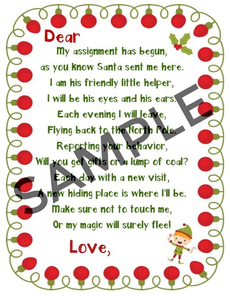 printable birthday letter from elf on the shelf elf on the shelf printables welcome letter