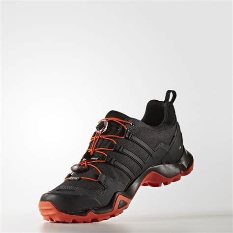 waterproof walking shoes adidas terrex r mens orange black tex