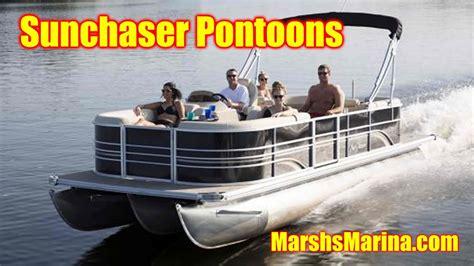 sunchaser pontoon sunchaser pontoons for sale marshsmarina