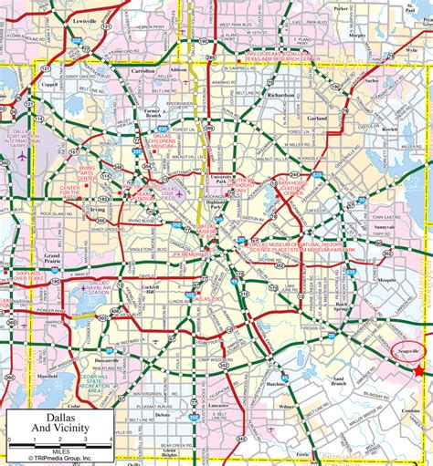 texas map dallas dallas tourist map dallas mappery