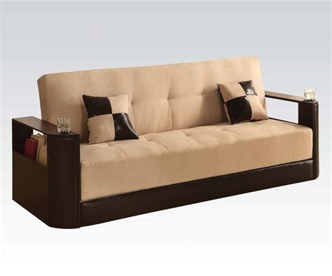 Modern Microfiber Sofa Acme 57032kit Modern Microfiber Brown Pu Adjustable Sectional Sofa Sofas Loveseats
