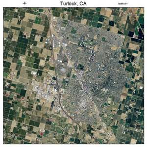 aerial photography map of turlock ca california