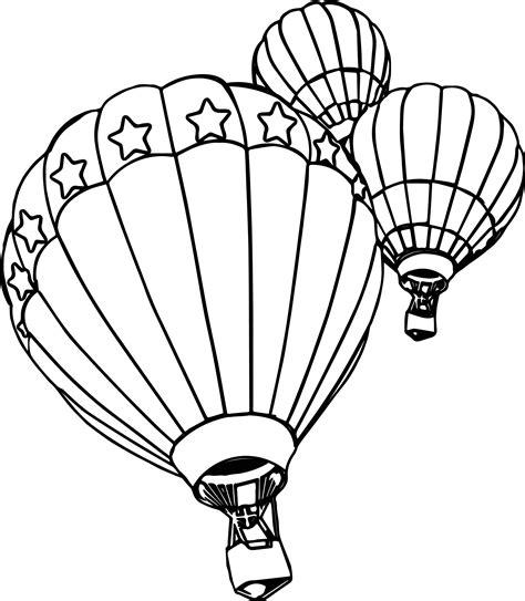 air balloon coloring page three air balloon coloring page wecoloringpage
