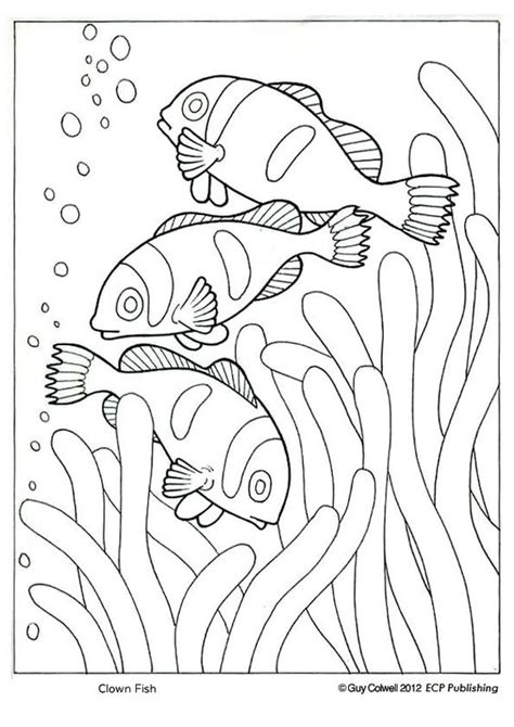 coloring page of a clown fish clown fish coloring ocean animal coloring pages