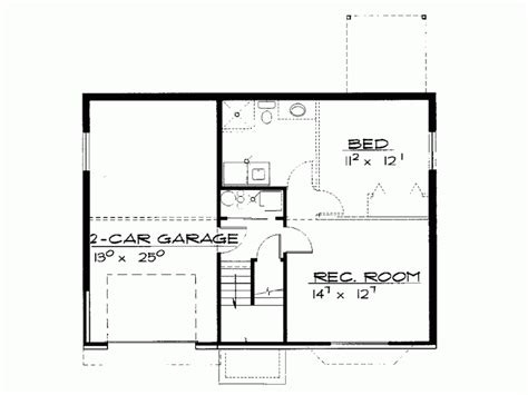 Basement Plans Eplans Contemporary Modern House Plan Two Bedroom