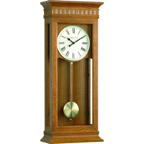 pendulum wall clock clock company large light oak westminster pendulum wall clock adelbrook discount