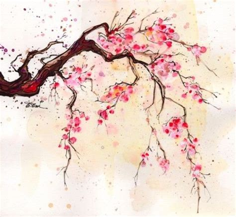 watercolor tattoo japan 25 best ideas about cherry blossom painting on