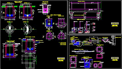 sewage disposal installation dwg detail  autocad