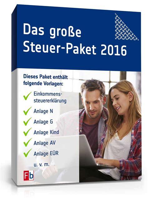 Musterbriefe Finanzamt das gro 223 e steuer paket 2016 formulare musterbriefe zum