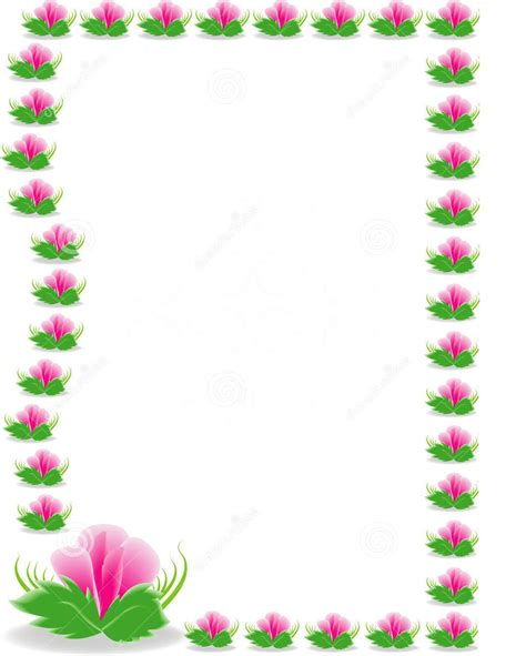 design flower nice nice viewing gallery for pink and green flowers borders