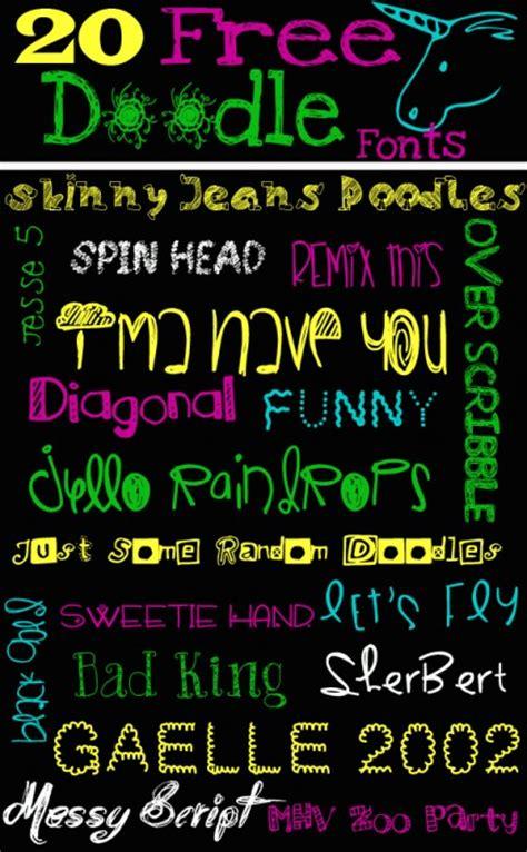 free doodle dingbat fonts 20 free doodle fonts sweet t makes three