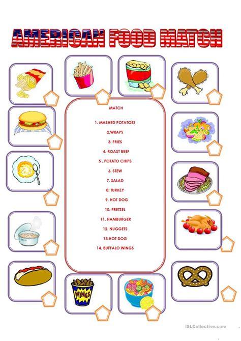 1951 free esl food worksheets american food worksheet free esl printable worksheets