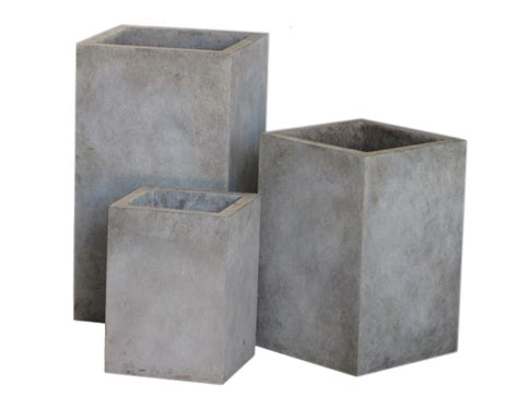 Cast Concrete Planters by Modern Cast Concrete Upright Planters Inner Gardens