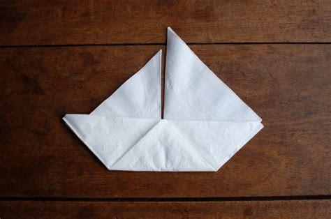 boat origami with napkins sail boat napkins seakettle