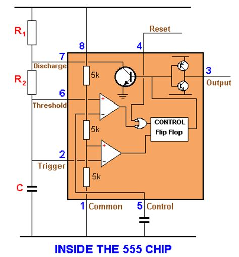 555 chip diagram 100 ic circuits