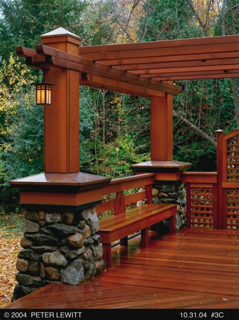 pergola bench craftsman style pergola with bench