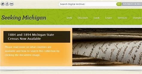 Seekingmichigan Org Records Searching The Michigan State Census Records
