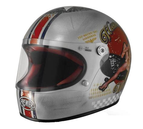 helmet design italy motorcycle helmet premier trophy quot old style silver quot with
